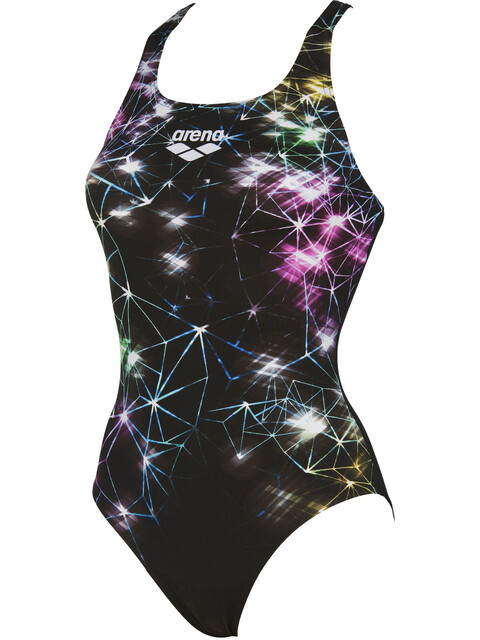 arena Galaxy V Back One Piece Swimsuit Women black multi